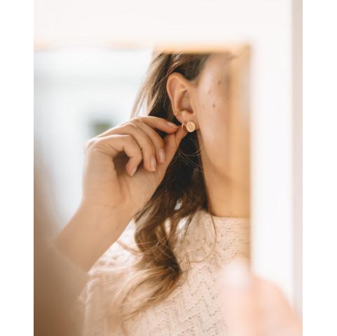 Boucles d'oreilles en plaqué or puces zirconium