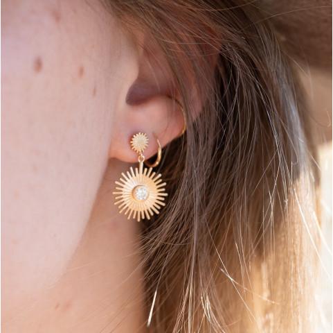 Boucles d'oreilles pendantes rayons de soleil