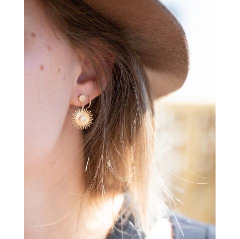 Boucles d'oreilles pendantes plaqué or tendances