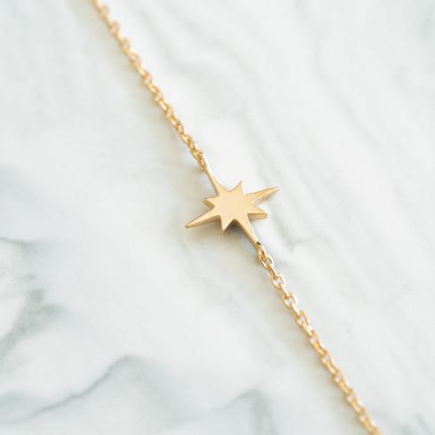 Bracelet plaqué or avec petite étoile