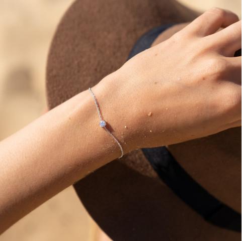 Bracelet femme argent strass