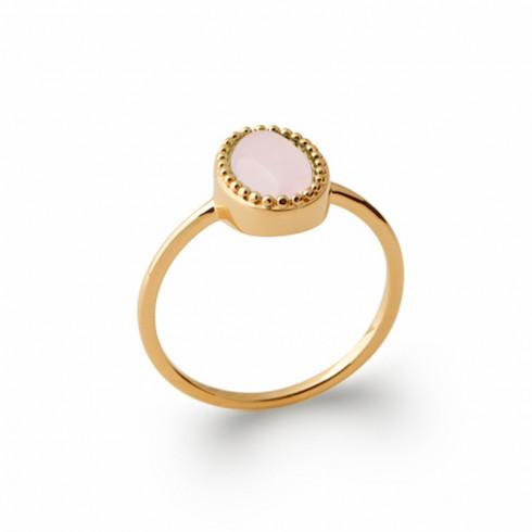 Bague argent pierre précieuse quartz rose
