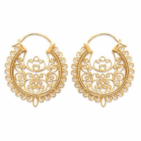 Boucles d'oreilles orientales plaqué or