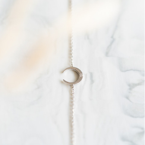 Bracelet argent lune