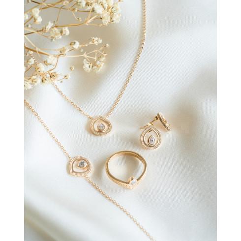 Parure bijoux plaqué or style oriental