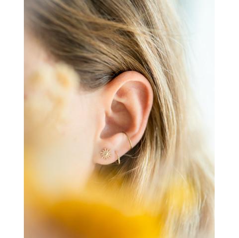 Boucles d'oreilles puces soleil