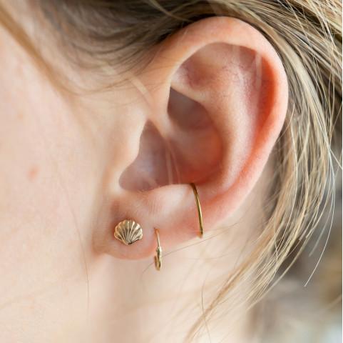 Boucles d'oreilles petites puces Coquillage