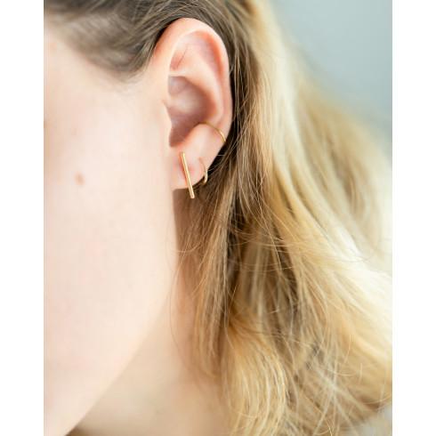 Boucles d'oreilles barres fines et élégantes