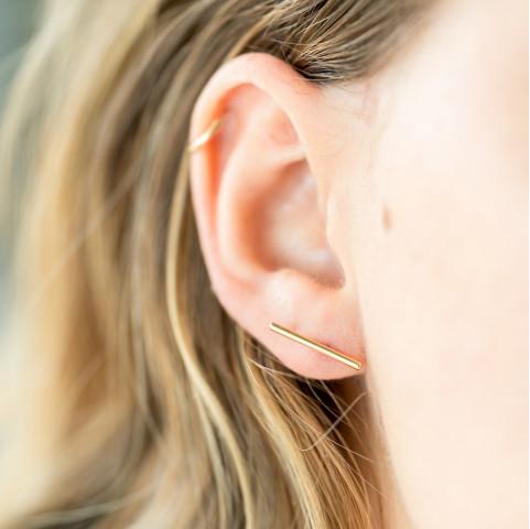 Boucles d'oreilles barres