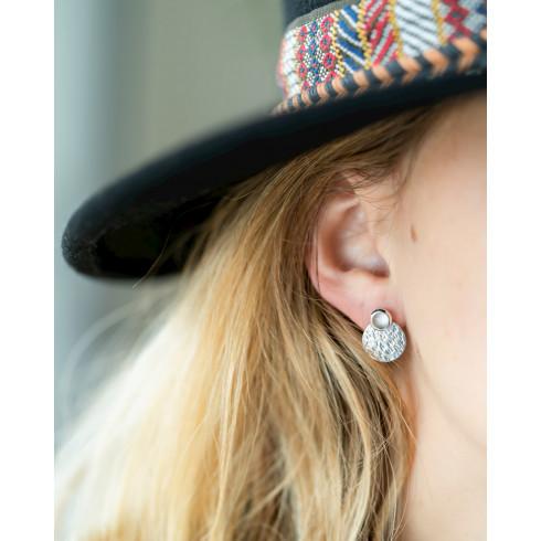Boucles d'oreilles argent pierre de lune