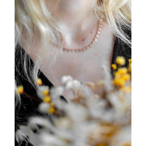 Collier ras de cou plaqué or