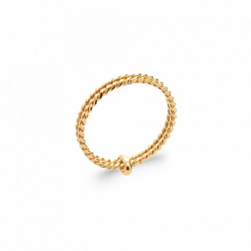 Bague double anneau Louise plaqué or