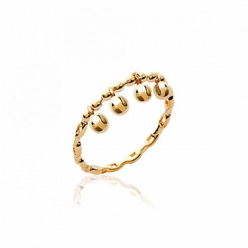 Bague perle Merida plaqué or