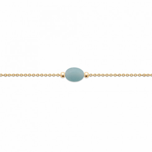 Bracelet Amazonite plaqué or