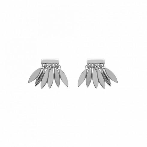 Boucles d'oreilles Lilie argent