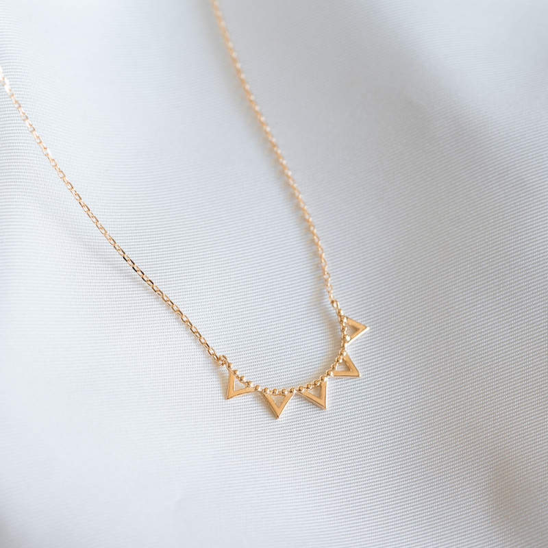 Collier plaqué or pointes