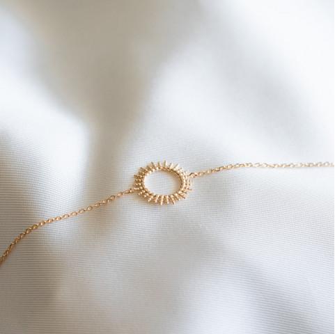 Bracelet soleil plaqué or