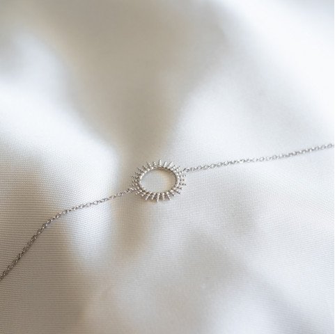 Bracelet argent soleil