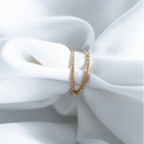 Bague 2 anneaux plaqué or