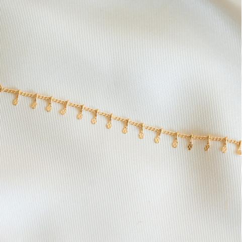 Bracelet plaqué or avec petites pampilles