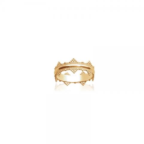 Bague couronne plaqué or
