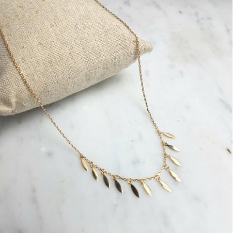 Collier femme plaqué or breloques pendantes