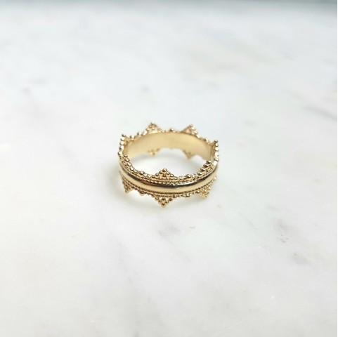 Bague couronne en plaqué or
