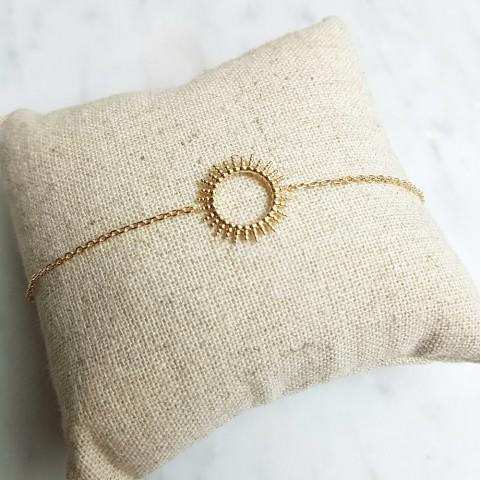 Bracelet plaqué or rayons de soleil