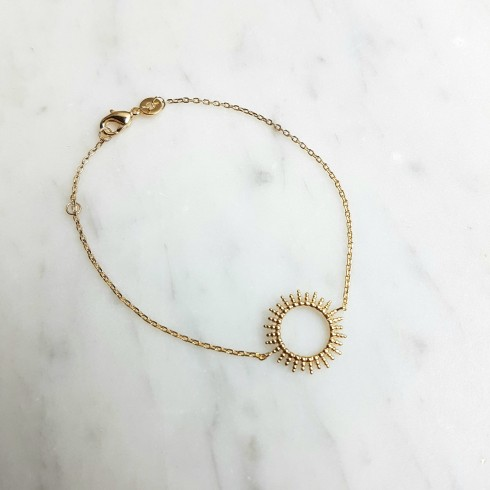 Bracelet femme plaqué or soleil