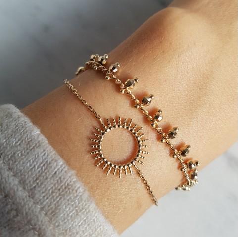 Bracelet plaqué or soleil