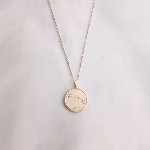 Collier Signe Astrologique Bélier plaqué or