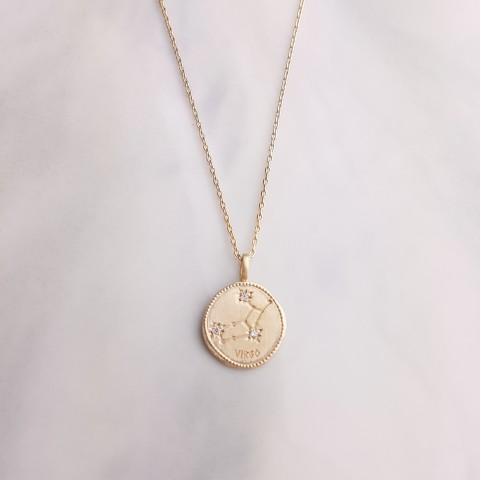 Collier Signe Astrologique Vierge plaqué or