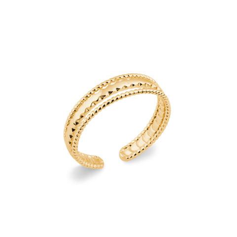 Bague ajustable tendance plaqué or