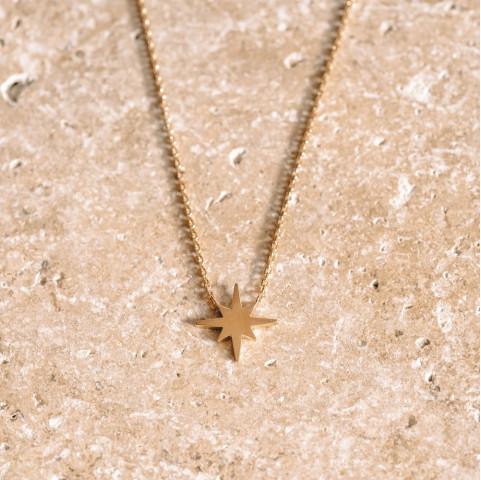Collier plaqué or pendentif étoile