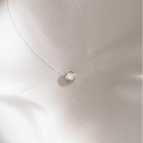 Collier argent invisible ras de cou strass en oxyde de zirconium
