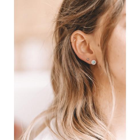 Boucles d'oreilles argent turquoise