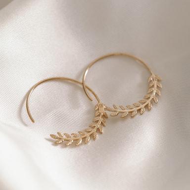 Boucles d'oreilles créoles fantaisie tendances plaqué or et argent