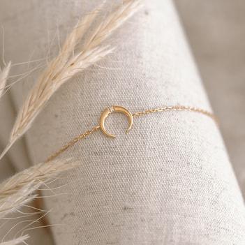 Bracelet fantaisie tendance plaqué or et argent