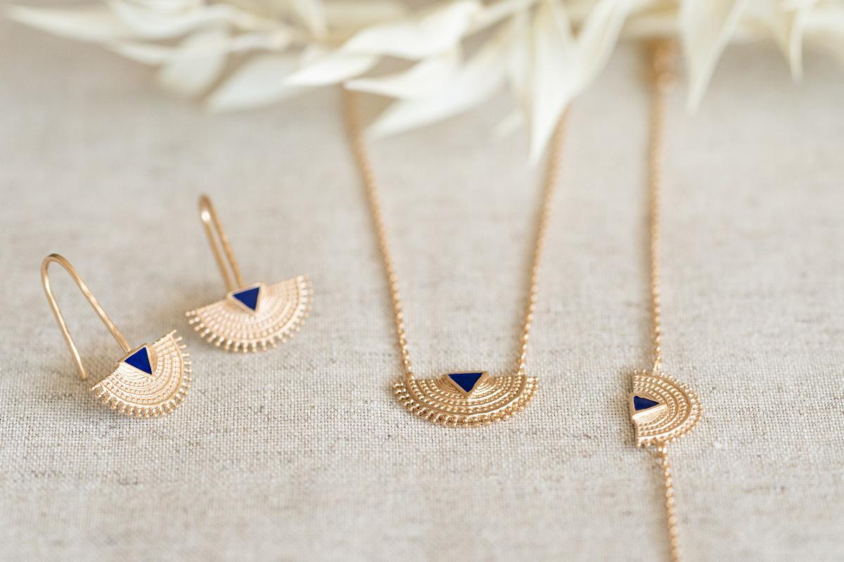 Bijoux fantaisie pierres bleues