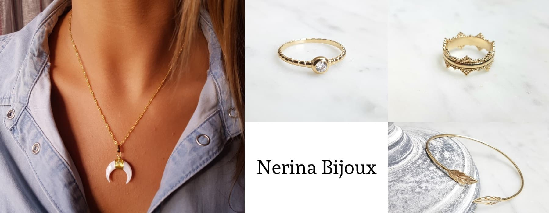Nerina Bijoux : Bijoux plaqué or et bijou argent 925 rhodié
